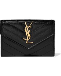 Saint Laurent - Quilted Textured-leather Wallet - Lyst