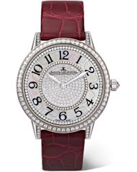 Jaeger-lecoultre - Rendez-vous Night & Day Ivy 34mm 18-karat White Gold, Diamond And Alligator Watch - Lyst