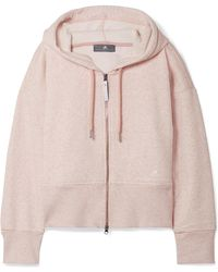 adidas By Stella McCartney - Essentials Organic Cotton-blend Fleece Hooded Top - Lyst