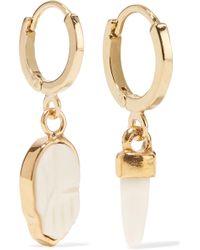 Isabel Marant - Gold-tone Bone Earrings - Lyst