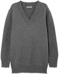 T By Alexander Wang - Pullover Aus Einer Baumwollmischung In  Distressed-optik - Lyst ee20144a40