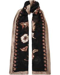 Etro - Floral-print Fil Coupé Silk-blend Chiffon Scarf - Lyst