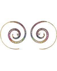 Noor Fares - 18-karat Grey Gold Multi-stone Earrings - Lyst