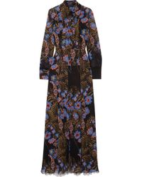 Etro - Lace-paneled Floral-print Silk-chiffon Maxi And Shirt Dress Set - Lyst
