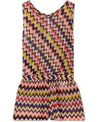 Missoni - Mare Crochet-knit Playsuit - Lyst