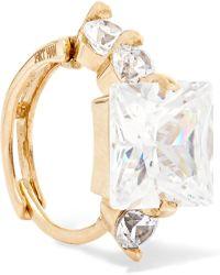 Loren Stewart - Queen Elz 14-karat Gold Cubic Zirconia Ear Cuff - Lyst