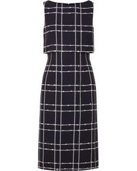 Oscar de la Renta - Checked Midi Dress - Lyst