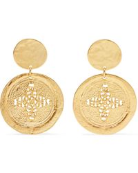 Kenneth Jay Lane - Gold-tone Earrings - Lyst