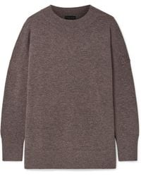 HATCH - The Clementine Merino Wool And Cashmere-blend Jumper - Lyst