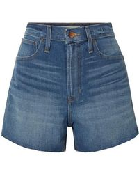 Madewell - The Perfect Vintage Frayed Denim Shorts - Lyst