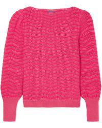 M.i.h Jeans - Celia Pointelle-knit Mohair-blend Sweater - Lyst