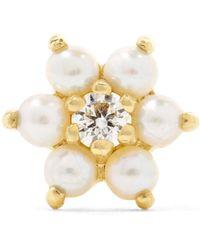 Maria Tash - 18-karat Gold, Pearl And Diamond Earring - Lyst