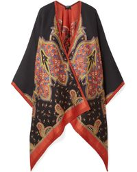 Etro - Wool-blend Jacquard Wrap - Lyst