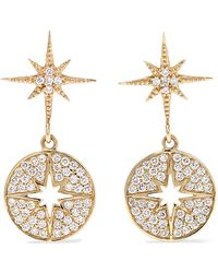 Sydney Evan - Starburst 14-karat Gold Diamond Earrings - Lyst