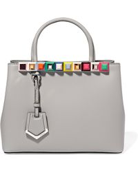 Fendi - 2jours Small Embellished Leather Tote - Lyst