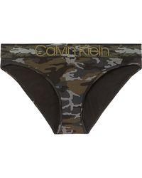 Calvin Klein - Camouflage-print Stretch-cotton Briefs - Lyst