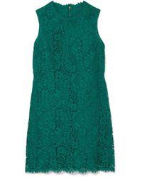 Dolce & Gabbana - Lace Mini Dress - Lyst