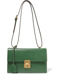 Mark Cross - Downtown Textured-leather Shoulder Bag - Lyst