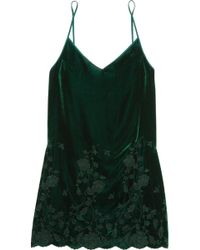 I.D Sarrieri - Nuits A Moscou Embroidered Velvet Chemise - Lyst