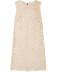 Alice + Olivia - Clyde Sequined Crochet-knit Mini Dress - Lyst