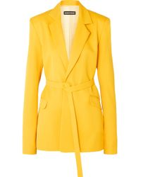 House of Holland - Belted Twill Blazer - Lyst