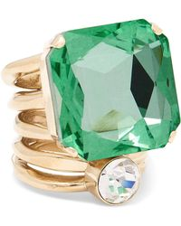 Dries Van Noten - Gold-tone Crystal Ring - Lyst
