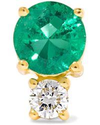 Jemma Wynne   18-karat Gold, Emerald And Diamond Earring   Lyst