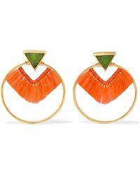 Katerina Makriyianni - Fringed Gold Vermeil Crystal Earrings - Lyst