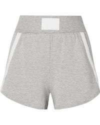 Heroine Sport - Boost Grosgrain-trimmed Stretch-modal Shorts - Lyst