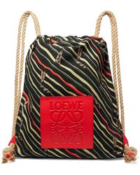 Loewe - Paula's Ibiza Yago Leather-trimmed Printed Cotton-canvas Backpack - Lyst
