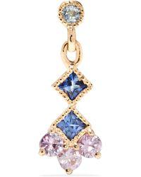 Jennie Kwon - Momentum 14-karat Gold, Aquamarine And Sapphire Earring - Lyst