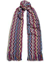 Missoni - Fringed Crochet-knit Scarf - Lyst