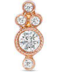 Maria Tash - 18-karat Rose Gold Diamond Earring - Lyst