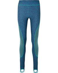 Fendi - Printed Mesh-paneled Stretch Leggings - Lyst