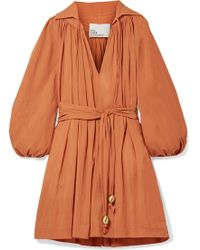 Lisa Marie Fernandez - Cotton-gauze Mini Dress - Lyst