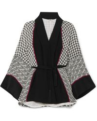 Talitha - Printed Silk Crepe De Chine Robe - Lyst