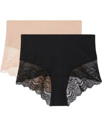 Spanx - Undie-tectable Set Of Two Stretch-jersey And Lace Briefs - Lyst