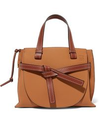 Loewe - Gate Small Textured-leather Tote - Lyst