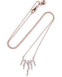 Monica Vinader - Riva Waterfall Rose Gold Vermeil Diamond Necklace - Lyst