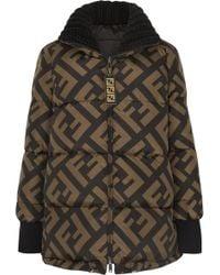 Fendi - Reversible Wool Blend-trimmed Printed Quilted Down Ski Jacket - Lyst