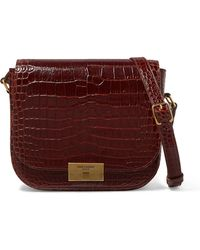 78209c61b8 Saint Laurent Betty Medium Chain Leather Shoulder Bag in Red - Lyst