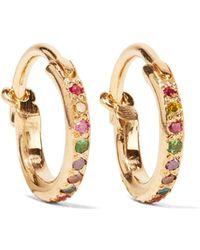 Ileana Makri - Mini Rainbow 18-karat Gold Multi-stone Earrings Gold One Size - Lyst