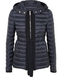 Moncler - Grosgrain-trimmed Quilted Shell Down Jacket - Lyst
