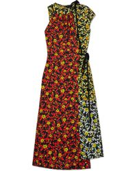 Proenza Schouler - Asmmetric Floral-print Georgette Dress - Lyst