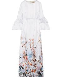 Merchant Archive - Printed Satin Gown - Lyst