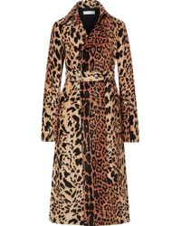 Victoria Beckham - Tiger Chenille Jacquard Split Sleeve Fitted Coat - Lyst