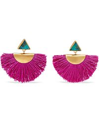 Katerina Makriyianni - Fringed Gold Vermeil Chrysocolla Earrings - Lyst