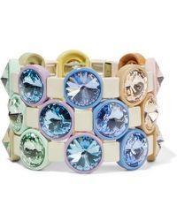 Roxanne Assoulin Rainbow Lite Set Aus Drei Armbändern Mit Emaille Und Kristallen - Blau