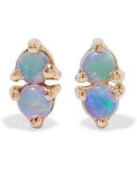 Wwake - Two Step 14-karat Gold Opal Earrings - Lyst