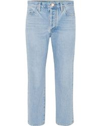Goldsign - The Low Slung Cropped Mid-rise Straight-leg Jeans - Lyst